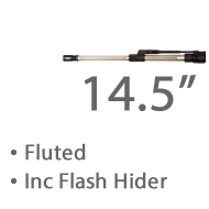 """14.5"""" Fluted Stainless Steel MBar Barrel 1 in 8 twist Lothar Walthar Match Grade, 1/2""""x 28 Tpi Threaded Muzzle +£1,351.20"""