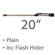 "20"" Plain Stainless Steel MBar Barrel 1 in 8 twist Lothar Walthar Match Grade, 1/2""x 28 Tpi Threaded Muzzle +£1,327.20"